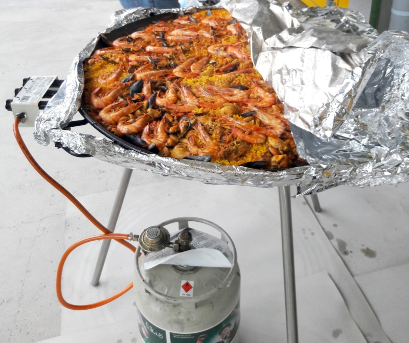 Nous maîtrisons les traitements thermiques et sommes ouverts aux nouveaux procédés. Par exemple pour la paella de notre repas estival !
